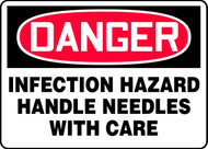 Danger - Infection Hazard Handle Needles With Care