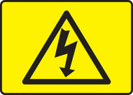 High Voltage Symbol -Black On Yellow