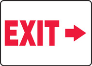 (Arrow Right) Exit - Plastic - 7'' X 10''