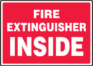 Fire Extinguisher Inside - Plastic - 10'' X 14''