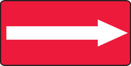 Arrow Graphic (White On Red) - Aluma-Lite - 7'' X 14''