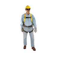 MSA Workman Harness, Quick-Fit Chest and Leg Straps, Hip D-Ring- Standard