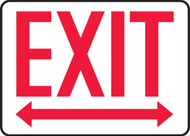 Exit (Arrow Left & Right) - Adhesive Dura-Vinyl - 7'' X 10''