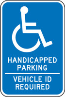 Minnesota Handicapped Parking Vehicle Id Required Sign