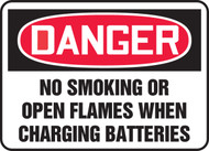 Danger - No Smoking Or Open Flames When Charging Batteries
