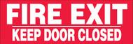 Fire Exit Keep Door Closed