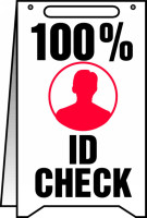 100% Id Check Fold Up Sign (w/graphic)