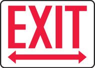 Exit (Arrow Left & Right) - Dura-Plastic - 7'' X 10''