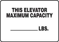 This Elevator Maximum Capacity