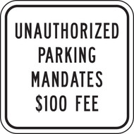 Unauthorized Parking Mandates $100 Fee (N. Dakota)