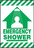 Emergency Shower Floor Sign- Slip Gard Border Floor Sign