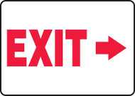 Exit (Arrow Right) - Adhesive Dura-Vinyl - 10'' X 14''