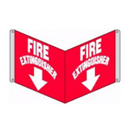 "Fire Extinguisher Sign 3D- 8"" x 12"" panel"