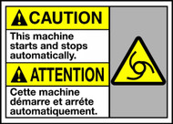 Caution This Machine Starts And Stops Automatically