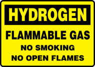 Hydrogen Flammable Gas No Smoking No Open Flames