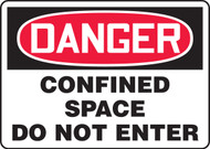 Danger - Confined Space Do Not Enter - .040 Aluminum - 7'' X 10''