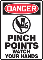 Danger - Pinch Points Watch Your Hands Sign