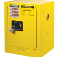 Justrite Yellow Countertop Safety Cabinet 4 gallon