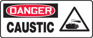 Danger - Caustic (W/Graphic) - Adhesive Vinyl - 7'' X 17''