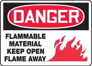 Danger - Flammable Material Keep Open Flame Away