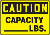 Caution - Capacity ___ Lbs.