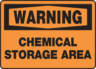 Warning - Chemical Storage Area - Adhesive Vinyl - 10'' X 14''