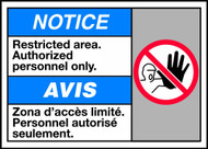 Notice Restricted Area Authorized Personnel Only (W/Graphic)