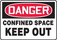 Danger - Confined Space Keep Out Sign