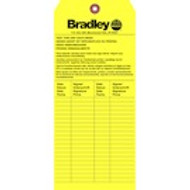 Bradley 204-421 emergency shower inspection tags- sold by the each