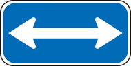White/blue Handicap Sign