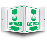 "Eyewash - 3D 6"" x 5"" - Safety Panel - Projection Sign"