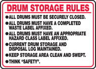 Drum Storage Rules ...