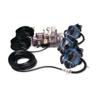 Allegro 9210-03 Three-Worker Supplied Air Respirator Full Mask System, 100'  Hose