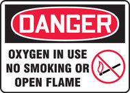 Danger - Oxygen In Use No Smoking Or Open Flame Sign