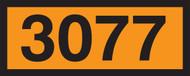 Orange 4 Digit Panels- 3077 (hazardous Waste, Soild, N.O.S.)
