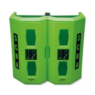 Allegro 4350 High Viz Heavy Duty Dual SCBA Wall Case, Green