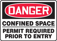 Danger - Confined Space Permit Required Prior To Entry