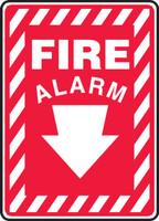 Fire Alarm (Arrow) - Dura-Fiberglass - 14'' X 10''
