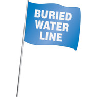 Buried Water Line Marking Flag