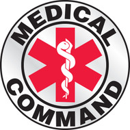 "Medical Command Helmet Label 2 1/4""- Priced By The Each"
