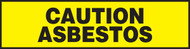 Caution Asbestos Label