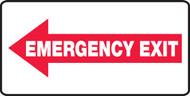 Emergency Exit Sign Left Arrow