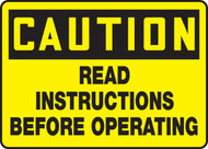 Caution - Read Instructions Before Operating