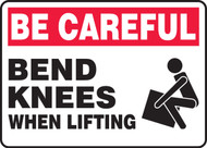 MGNF966VP Be careful bend knees when lifting sign