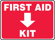 "First Aid Kit - 7"" x 10"" - Safety Sign"