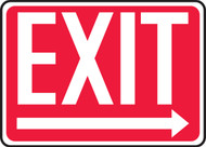 Exit (Arrow Right) - Adhesive Dura-Vinyl - 10'' X 14'' 1