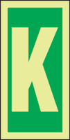 Letter K IMO Sign