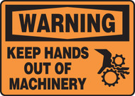 Warning - Keep Hands Out Of Machinery (W-Graphic) - Plastic - 5'' X 7''
