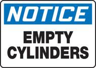 Notice - Empty Cylinders - Adhesive Vinyl - 7'' X 10''