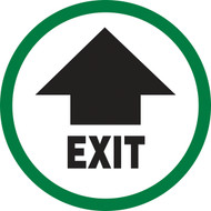 Exit Sign  (w/arrow)- Dura Vinyl
